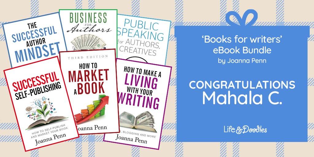 Books for Writers eBook Bundle Giveaway Winner